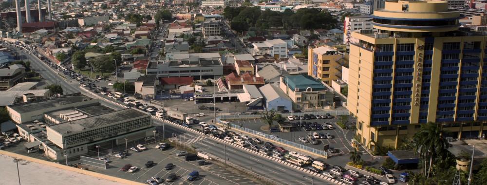 Traffic jam, downtown Port of Spain