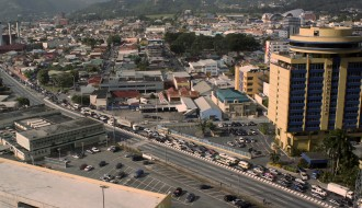 Traffic jam, downtown Port of Spain